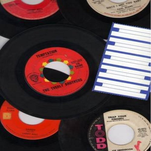Henderson, Joe, Paul Evans, Jimmy Jones, Larry Hall, Everly Brothers - Oldie Ballads 5-Pack: Original first issue 45rpm records, all in very good or better condition, in white paper sleeves, with strip of 5 blank juke box labels. Hit titles include Sandy,