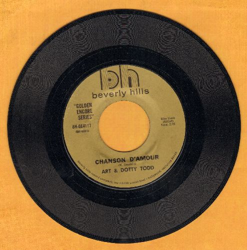 Todd, Art & Dotty - The Summer Knows/Chanson D'Amour (double-hit re-issue) - EX8/ - 45 rpm Records