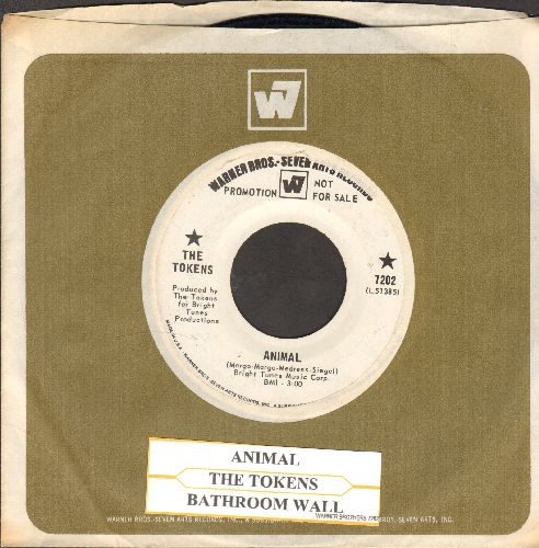 Tokens - Animal/Bathroom Wall (DJ advance pressing with juke box label and Warner Brothers company sleeve) - NM9/ - 45 rpm Records