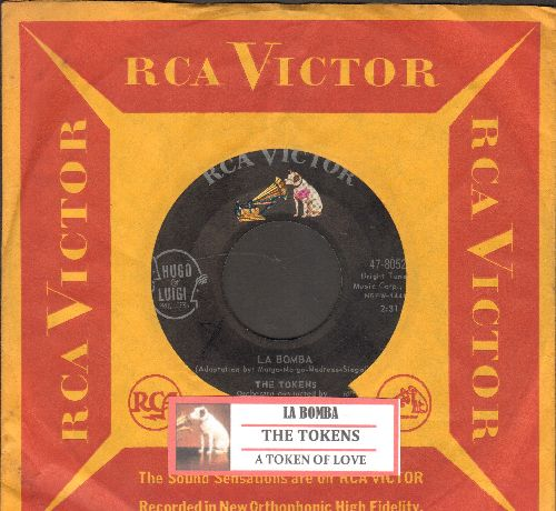 Tokens - La Bomba/A Token Of Love (with juke box label and RCA company sleeve) - EX8/ - 45 rpm Records