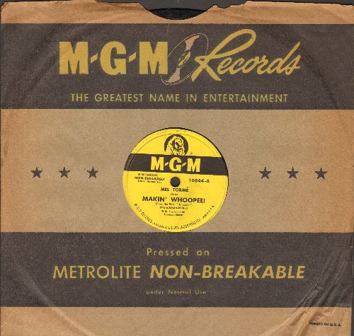 Torme, Mel - Makin' Whooppee!/Dream Awhile (10 inch 78 rpm record with MGM company sleeve) - EX8/ - 78 rpm