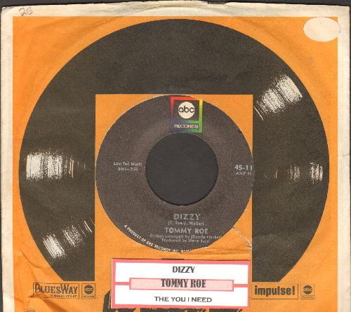Roe, Tommy - Dizzy/The You I Need (with ABC company sleeve and juke box label) - NM9/ - 45 rpm Records