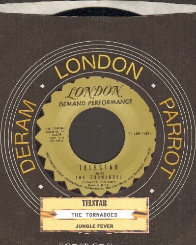 Tornadoes - Telstar/Jungle Fever (early re-issue with juke box label and company sleeve) - NM9/ - 45 rpm Records