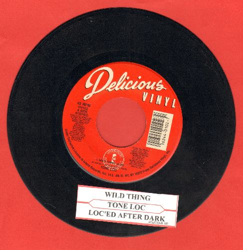 Tone Loc - Wild Thing (RAP Version of the Troggs Classic)/Loc'ed After Dark (with juke box label) - VG7/ - 45 rpm Records