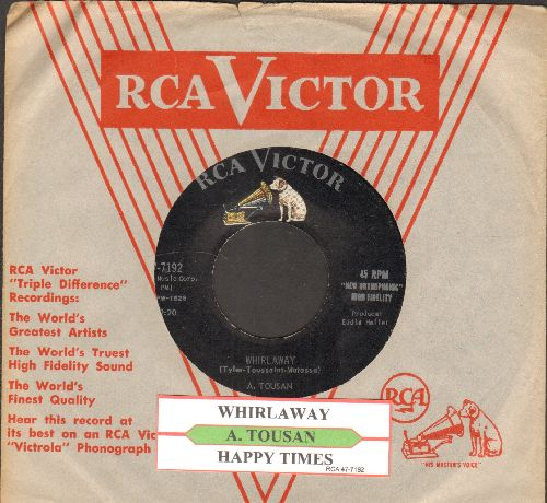Tousan, A. - Whirlaway/Happy Times (with juke box label and vintage RCA company sleeve) - EX8/ - 45 rpm Records