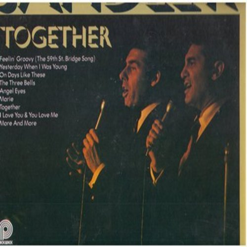 Sandler, Tony & Ralph Young - Together: Feelin' Groovy (The 59th St. Bridge Song), Yesterday When I Was Young, The Three Bells, Angel Eyes, One Of These Days (Vinyl MONO LP record, re-issue of vintage recordings) - NM9/EX8 - LP Records