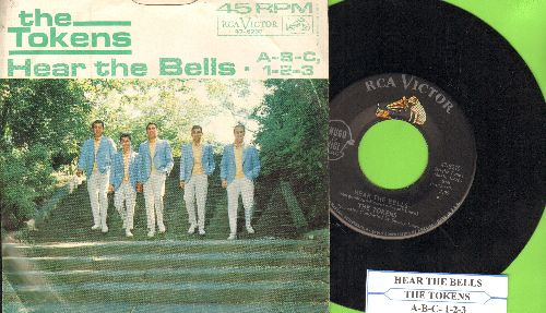 Tokens - A-B-C, 1-2-3/Heart The Bells (with RARE picture sleeve and juke box label) - NM9/VG7 - 45 rpm Records
