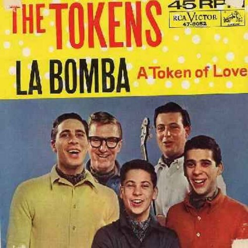 Tokens - La Bomba/A Token Of Love (with picture sleeve) - EX8/VG6 - 45 rpm Records