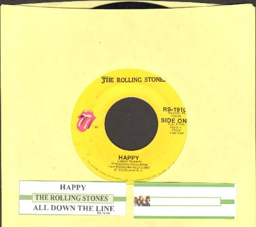 Rolling Stones - Happy/All Down The Line (with juke box label) - VG7/ - 45 rpm Records