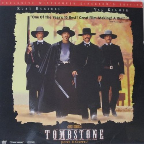 Tombstone - Tombstone -  2 Laser Disc Set of Epic Western starring Kurt Rusell and Val Kilmer, Widescreen Edition (This is a set of LASER DISCS, not any other kind of media!) - NM9/NM9 - Laser Discs