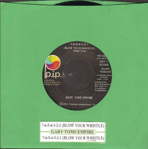 Toms, Gary Empire - 7-6-5-4-3-2-1 (long and short version, with juke box label) - VG7/ - 45 rpm Records