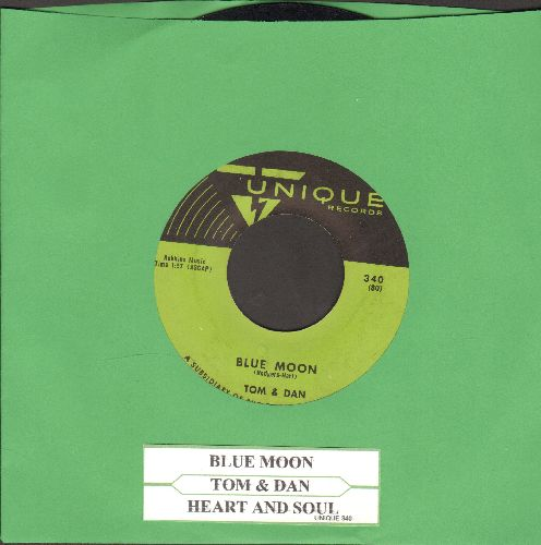 Tom & Dan - Heart And Soul/Blue Moon (with juke box label) - EX8/ - 45 rpm Records