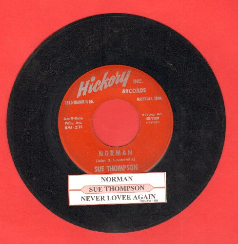 Thompson, Sue - Norman/Never Love Again (burgundy label first pressing with juke box label) - VG7/ - 45 rpm Records