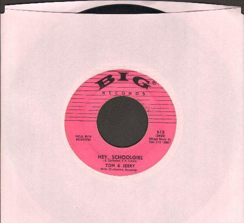 Tom & Jerry - Hey, Schoolgirl/Dancin' Wild - EX8/ - 45 rpm Records