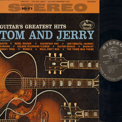 Tom & Jerry - Guitar's Greatest Hits: The Third Man Theme, Walk Don't Run, Caravan, Rebel Rouser, Raunchy, Guitar Boogie (Vinyl STEREO LP record) - EX8/EX8 - LP Records