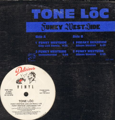 Tone Loc - Funky West Side (12 inch vinyl Maxi Single with 4 Tracks) - EX8/EX8 - Maxi Singles