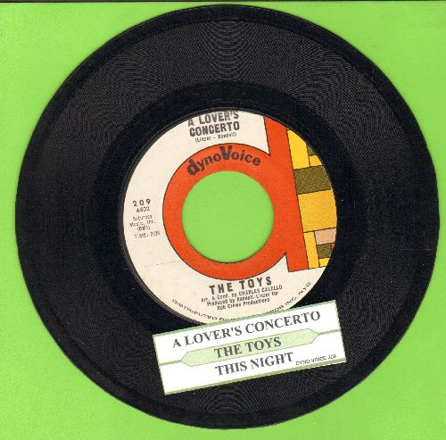 Toys - A Lover's Concerto/This Night (FANTASTIC two-sider) (multi-color label) - NM9/ - 45 rpm Records