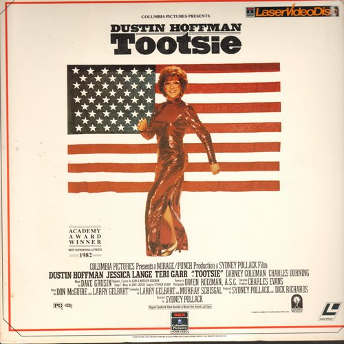 Tootsie - Tootsie - LASERDISC version of the Comedy Classic starring Dustin Hoffman and Jessica Lange (in her Oscar Winning Performance!)  (This is a LASERDISC, not any other kind of media!) - NM9/EX8 - LaserDiscs