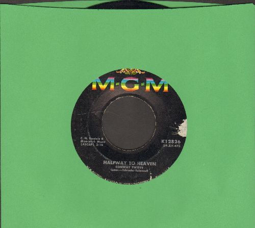 Twitty, Conway - Danny Boy/Halfway To Heaven (minor label blemish) - EX8/ - 45 rpm Records