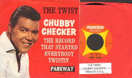 Checker, Chubby - The Twist/Twistin' U.S.A. (with juke box label and picture sleeve) - NM9/EX8 - 45 rpm Records