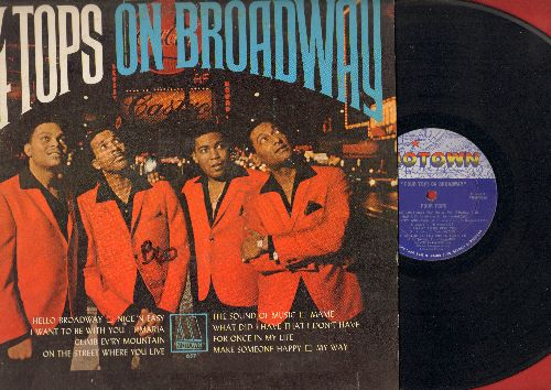 Four Tops - Four Tops On Broadway: Hello Broadway, Maria, Mame, My Way, Make Someone Happy, The Sound Of Music (Vinyl MONO LP record) - VG6/VG6 - LP Records
