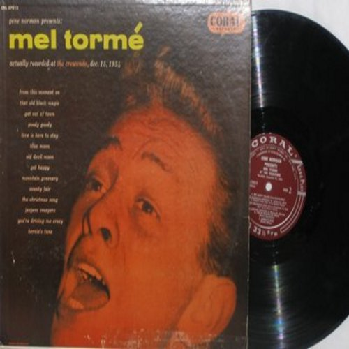 Torme, Mel - At The Crescendo: Goody Goody, Blue Moon, Jeepers Creepers, Get Happy (burgundy label first pressing) - VG7/VG7 - LP Records