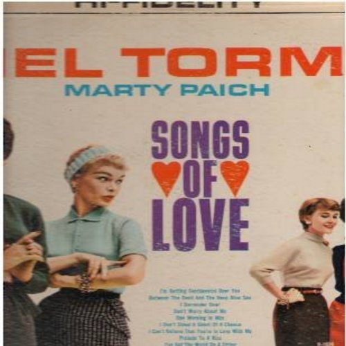 Torme, Mel - Mel Torme…Marty Paich - Songs Of Love: I'm Getting Sentimental Over You, Prelude To A Kiss, I Can't Give You Anything But Love (Vinyl MONO LP record) - NM9/VG7 - LP Records