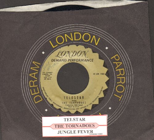 Tornadoes - Telstar/Jungle Fever (early re-issue with juke box label and company sleeve) - EX8/ - 45 rpm Records