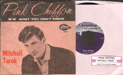 Torok, Mitchell - Pink Chiffon/What You Don't Know (with RARE picture sleeve and juke box label) - EX8/EX8 - 45 rpm Records
