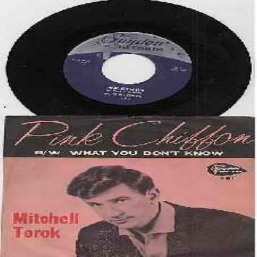Torok, Mitchell - Pink Chiffon/What You Don't Know (with RARE picture sleeve) - EX8/VG7 - 45 rpm Records