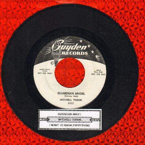 Torok, Mitchell - Guardian Angel/I Want To Know Everything (DJ advance pressing with juke box label) - NM9/ - 45 rpm Records