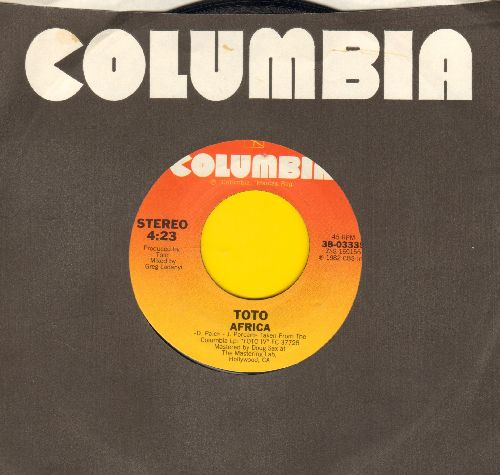 Toto - Africa/Good For You (with Columbia company sleeve) - NM9/ - 45 rpm Records