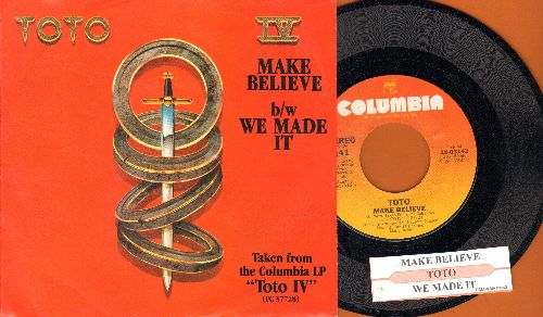 Toto - Make Believe/We Made It (with juke box label and Columbia company sleeve) - NM9/ - 45 rpm Records