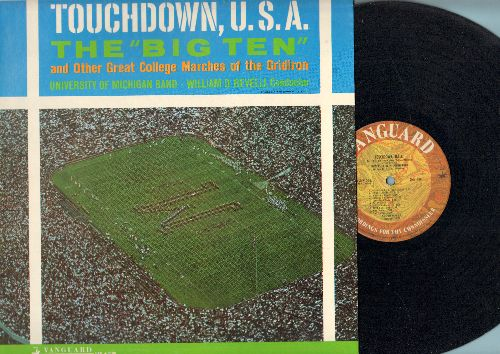 University of Michigan Band, William D. Revelli, director - Touchdown, U.S.A. - The -Big Ten- and other Great College Marches of the Gridiron (Vinyl STEREO LP record) - EX8/EX8 - LP Records