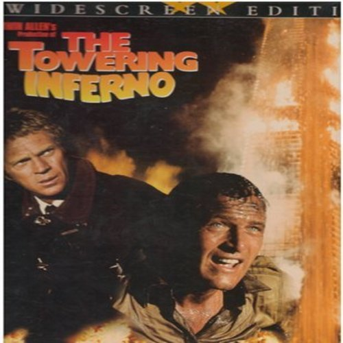 Towering Inferno - The Towering Inferno - LASER DISC Widscreen Edition of the all-star-cast 70's Disaster Movie, gate-fold cover (This is a set of 2 LASER DISCS, NOT ANY OTHER KIND OF MEDIA!) - NM9/NM9 - Laser Discs