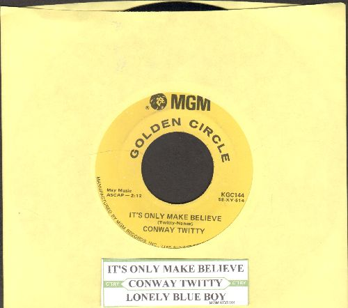 Twitty, Conway - It's Only Make Believe/Lonely Blue Boy (double-hit re-issue with juke box label)) - EX8/ - 45 rpm Records