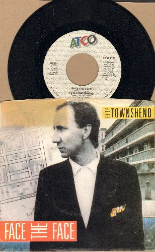 Townshend, Pete - Face To Face/Hiding Out (with picture sleeve) - EX8/VG7 - 45 rpm Records