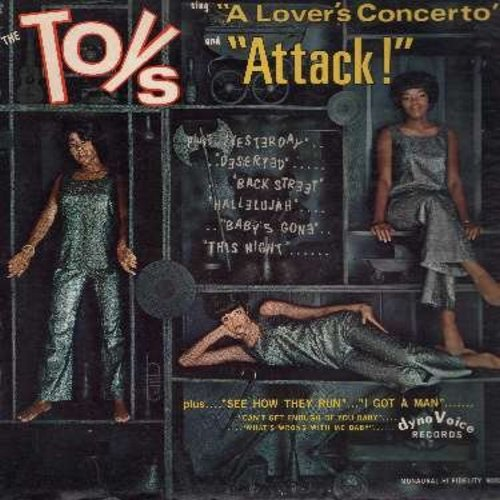 Toys - Attack!: A Lover's Concerto, Can't Get Enough Of You Baby, Back Street, Yesterday, I Got A Man (Vinyl MONO LP record)(bb) - EX8/VG7 - LP Records