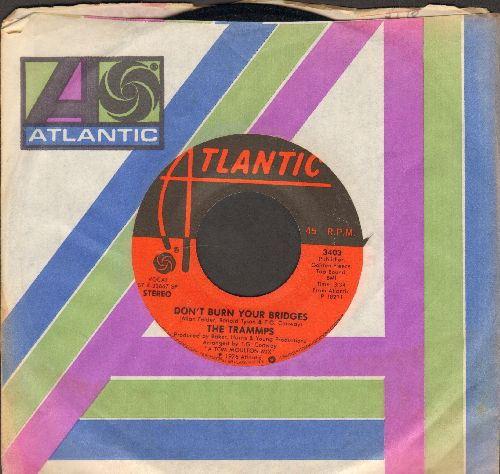Trammps - Don't Burn Your Bridges/I Feel Like I've Been Livin' (On The Dark Side Of The Moon) (with Atlantic company sleeve) - EX8/ - 45 rpm Records