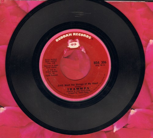 Trammps - Zing Went The Strings Of My Heart/Penguin At The Big Apple (with Buddah company sleeve) - NM9/ - 45 rpm Records