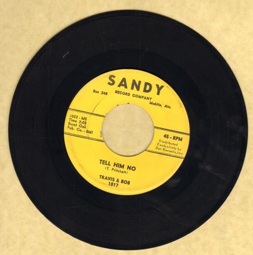 Travis & Bob - Tell Him No/We're Too Young - EX8/ - 45 rpm Records