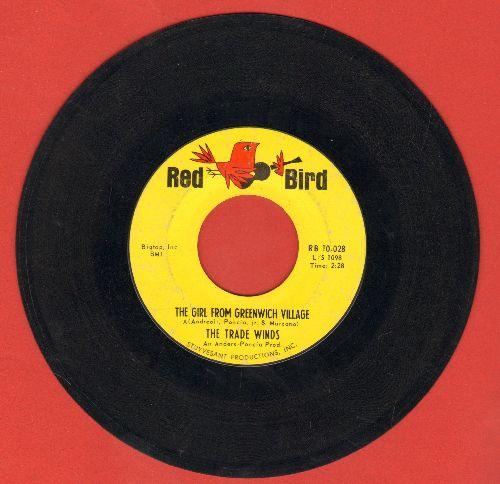 Trade Winds - The Girl Fro Greenwich Village/There's A Rock & Roll Show In Town - EX8/ - 45 rpm Records