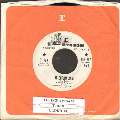 T. Rex - Telegram Sam/Caddilac (RARE DJ advance pressing with juke box label and Reprise company sleeve) - NM9/ - 45 rpm Records