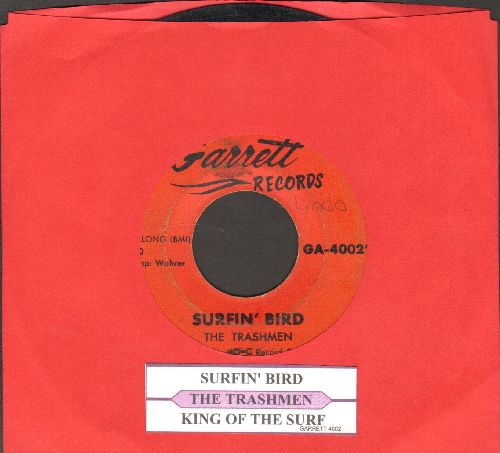 Trashmen - Surfin' Bird/King Of The Surf (with juke box label) - VG6/ - 45 rpm Records