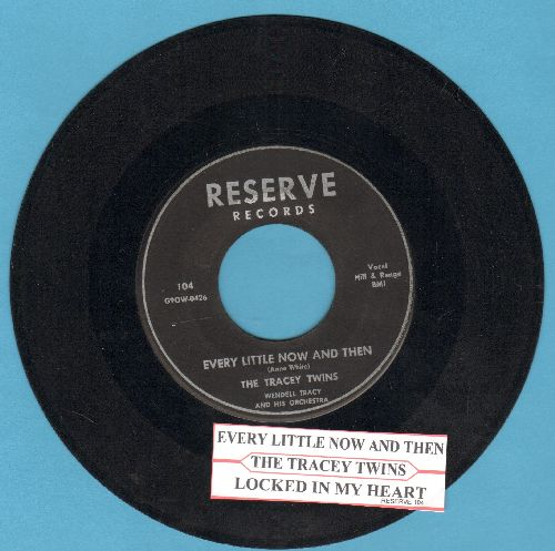 Tracey Twins - Every Little Now And Then/Locked In My Heart (with juke box label) - VG7/ - 45 rpm Records
