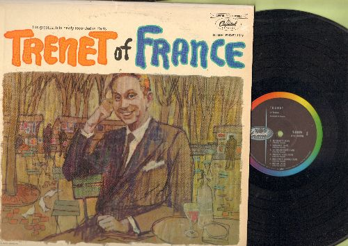 Trenet, Charles - Trenet Of France: Boum, Je Chante, Il pleut dans ma chambre, La Grand Café, La cigale et la fourmi (vinyl MONO LP record, US pressing, sung in French) - NM9/EX8 - LP Records