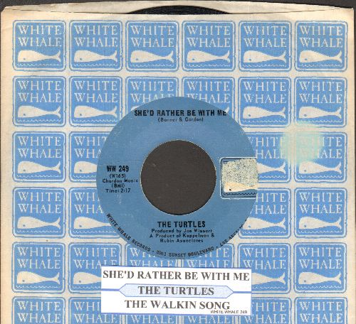 Turtles - She'd Rather Be With Me/The Walking Song (with juke box label and company sleeve) - EX8/ - 45 rpm Records