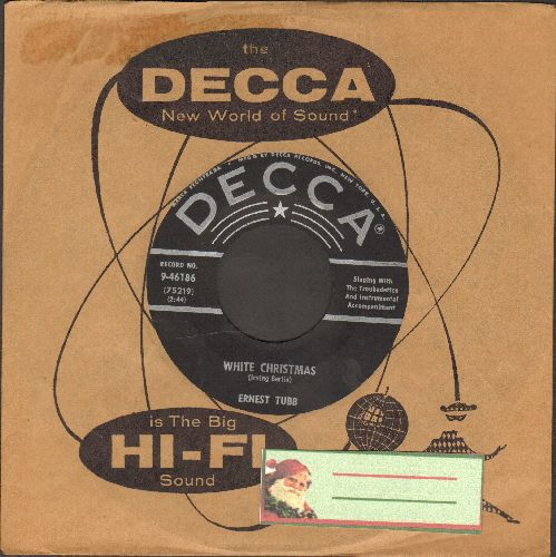 Tubb, Ernest - White Christmas/Blue Christmas (with Decca company sleeve) - VG7/ - 45 rpm Records