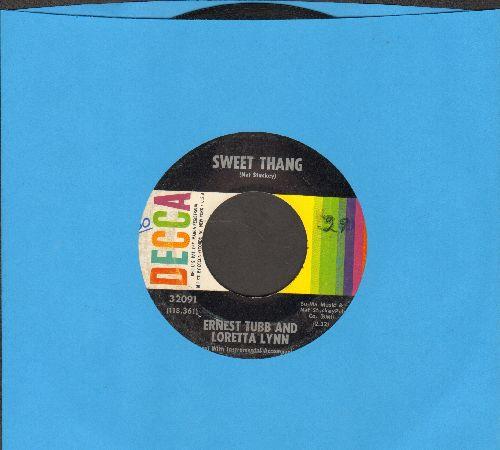 Tubb, Ernest & Loretta Lynn - Sweet Thang/Beautiful, Unhappy Home - VG7/ - 45 rpm Records