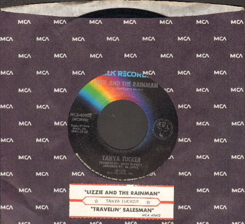 Tucker, Tanya - Lizzie And The Rainman/Traveling Salesman (with juke box label and MCA company sleeve) - EX8/ - 45 rpm Records